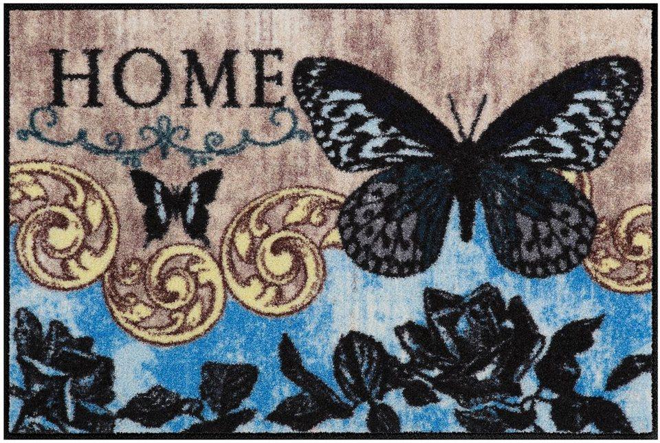Fußmatte, Salonloewe, »Papillon Bleu« in bunt