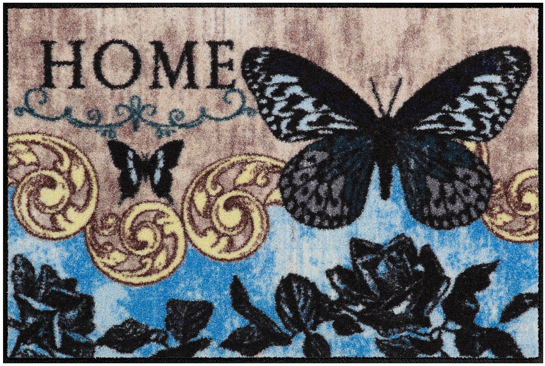 Fußmatte, Salonloewe, »Papillon Bleu«