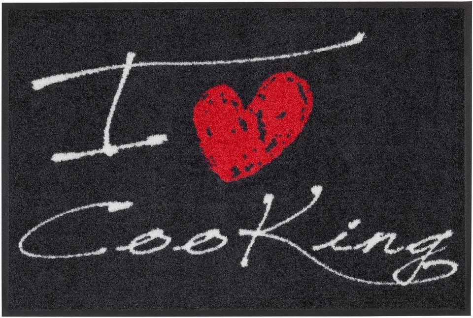 Fußmatte, Salonloewe, »Cooking« in grau