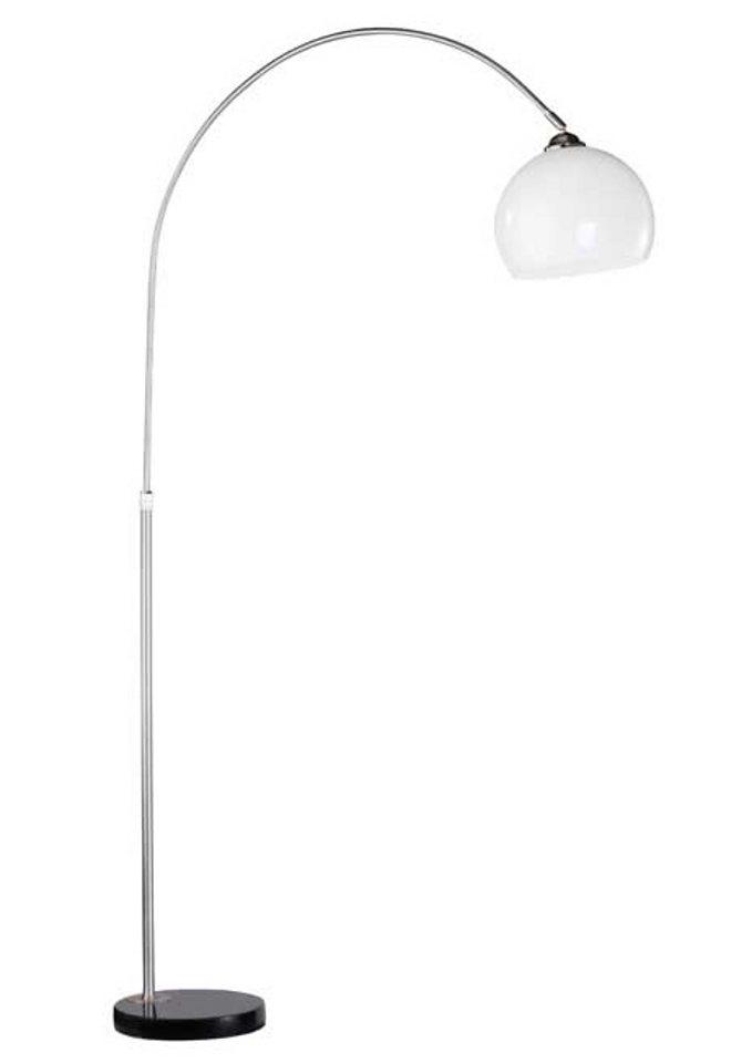 Bogen-Stehlampe, 1-flg., Leuchten Direkt in silberfarben