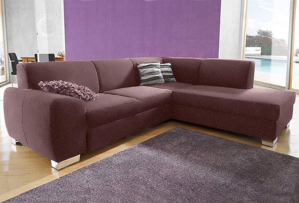 ecksofa wahlweise mit bettfunktion online kaufen otto. Black Bedroom Furniture Sets. Home Design Ideas