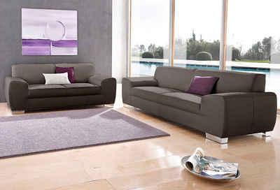 DOMO collection Polstergarnitur »Ricardo«, (Set, 2-tlg), Set: 2-Sitzer und 2,5-Sitzer