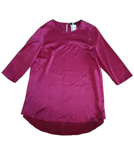Max & Co Shirtbluse »MAX & Co Seiden-Shirt glänzende Damen 3/4-Arm Bluse Mode-Shirt Bordeaux«
