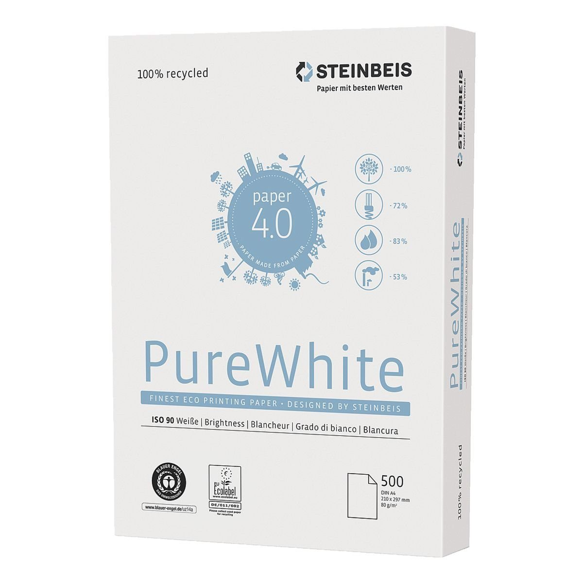 Steinbeis Recyclingpapier »Pure White«