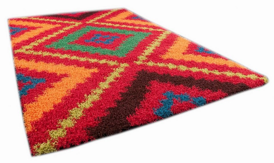 Hochflor-Teppich, Oriental Weavers, »Happy Shaggy 4«, Höhe ca. 40mm, gewebt in rot