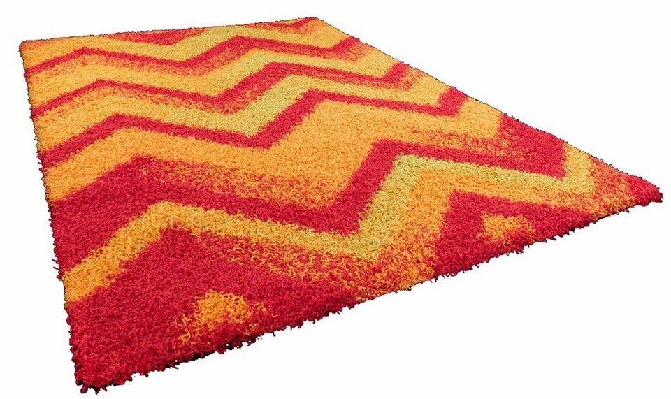 Hochflor-Teppich, Oriental Weavers, »Happy Shaggy 3«, Höhe ca. 40mm, gewebt in rot