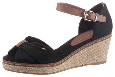 Tommy Hilfiger »ICONIC ELBA SANDAL« Sandalette mit Kontrastnaht