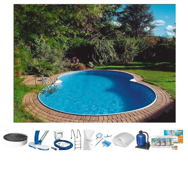Clear Pool Achtformpool mit Tiefbeckenleiter Premium-Set Mallorca 10-tlg.