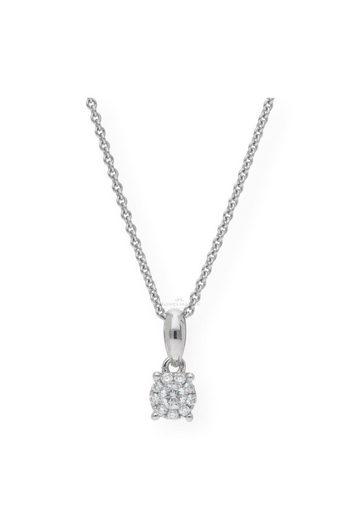JuwelmaLux Kettenanhänger »Anhänger Weißgold« (mit Diamant(en), ohne Kette, inkl. Schmuckschachtel