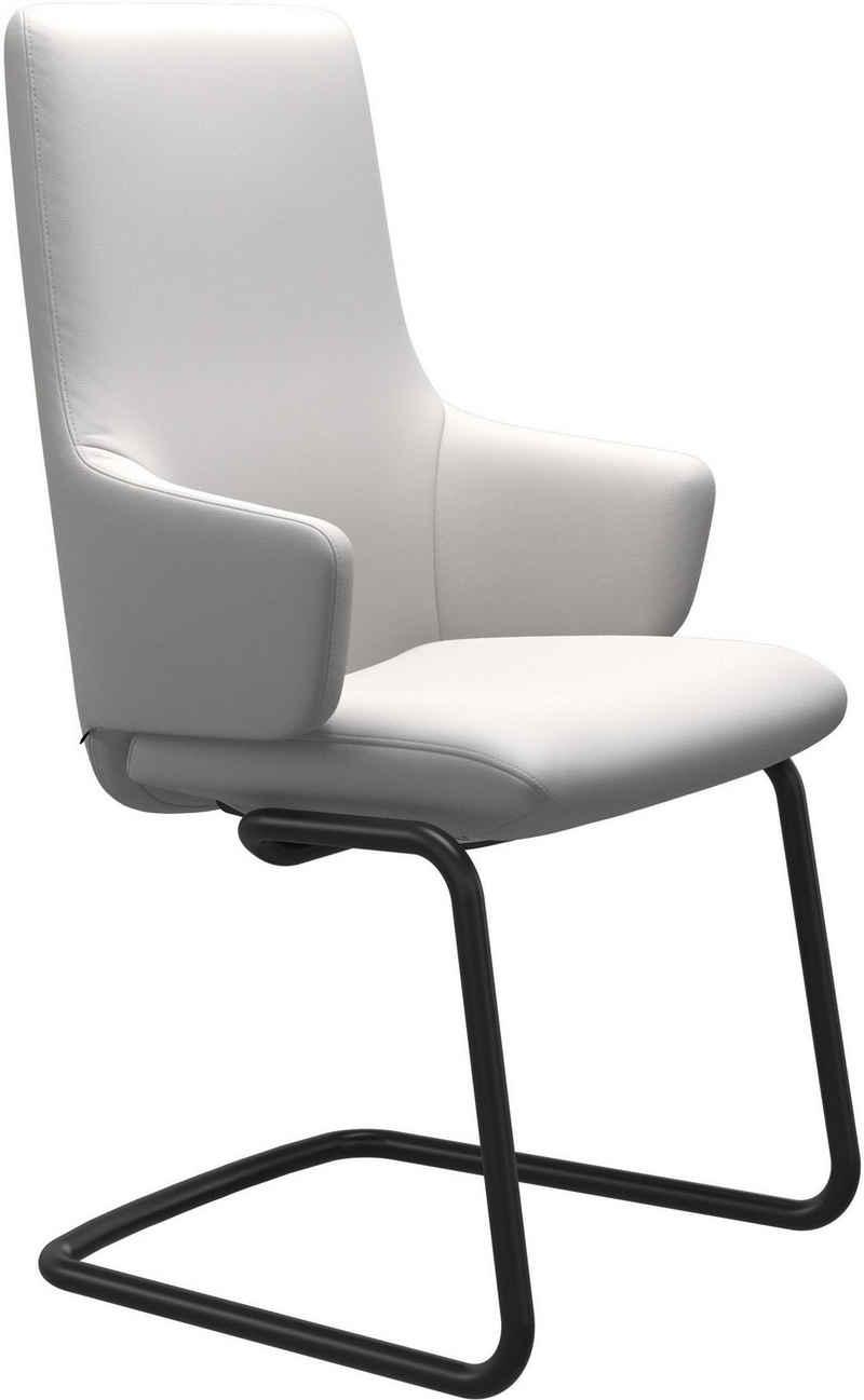 Stressless® Polsterstuhl »Laurel«, High Back mit Armlehne, Größe L, mit Beinen aus Stahl in Schwarz matt