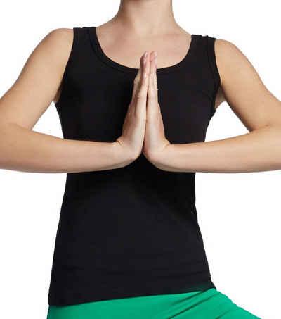 ESPARTO Yogatop »Tanktop Auron in Bio-Baumwolle« Der Ausschnitt sitzt immer und verrutscht auch beim Yoga und Sport nicht