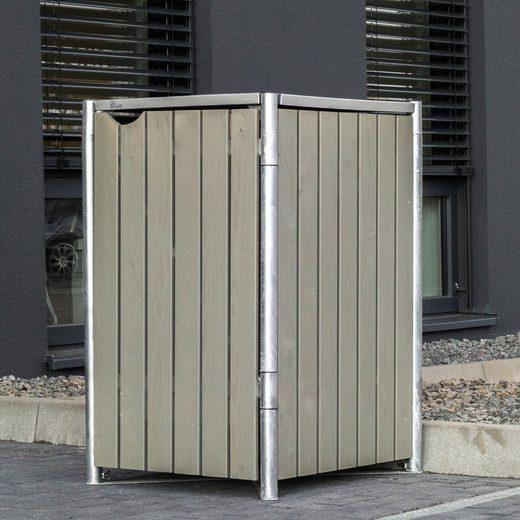 Mülltonnenbox , für 1 x 240 l, grau/natur