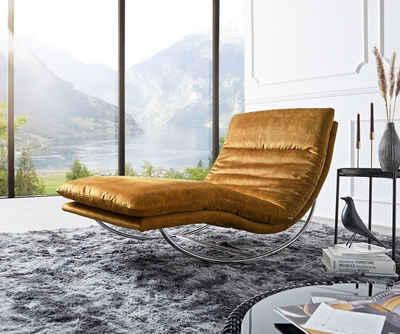 DELIFE Relaxliege »Daily«, Dreams Ocker 95 cm Schaukelgestell by W. Schillig