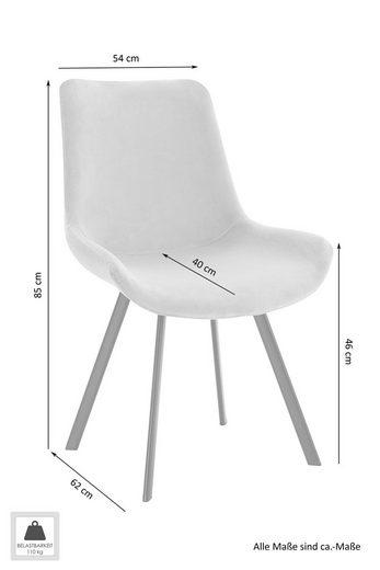 Homexperts Esszimmerstuhl »Rose 02« (2 Stück)  mit Webstoff-Bezug