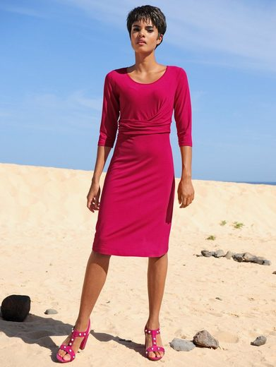 alba moda strandkleid in wickeloptik, figurkaschierende