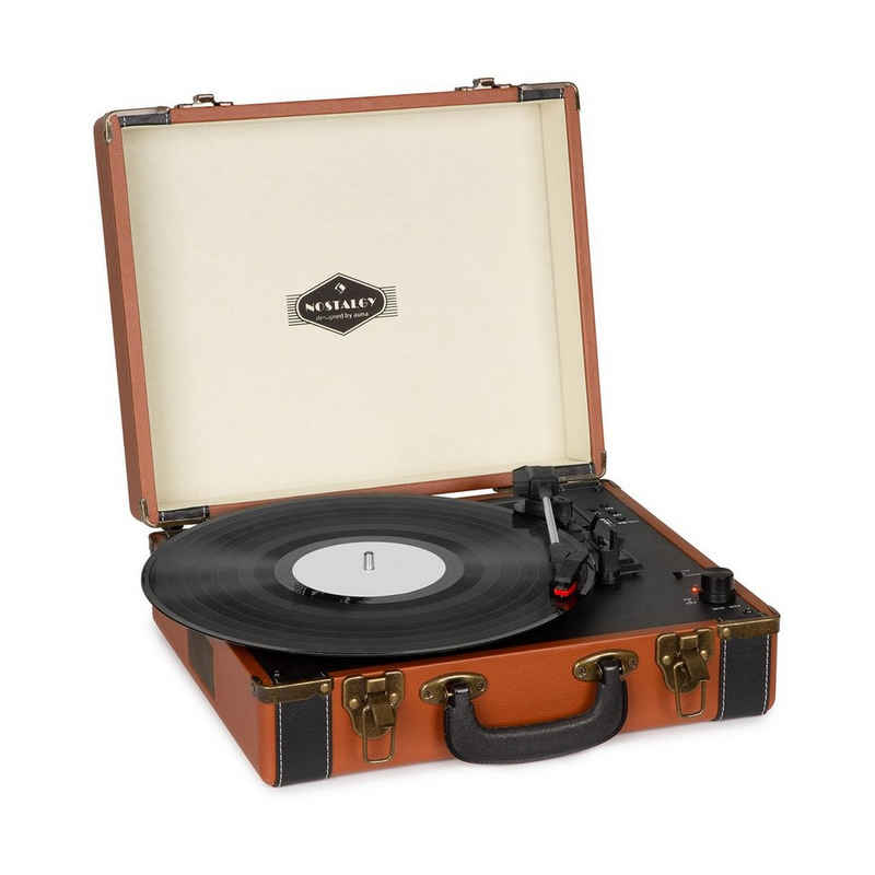 Auna »Jerry Lee BT Plattenspieler BT USB Aufnahme & Wiedergabe braun« Plattenspieler (Bluetooth)