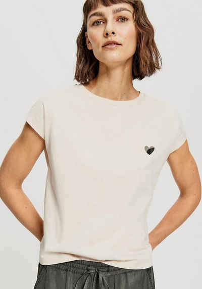 OPUS T-Shirt »Sulaki« mit aufgedrucktem Herzprint