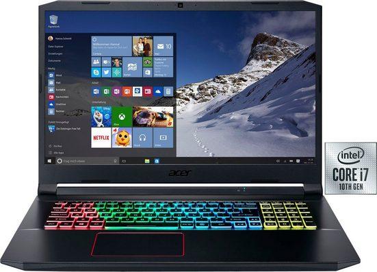 Acer Nitro 5 Notebook (43,94 cm/17,3 Zoll, Intel Core i7, GeForce® GTX 1660Ti, - GB HDD, 1000 GB SSD, inkl. Office-Anwendersoftware Microsoft 365 Single im Wert von 69 Euro)