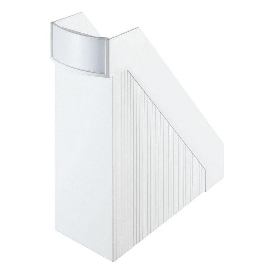 Helit Stehsammler »Linear« in weiß
