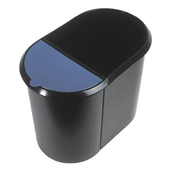 Helit Papierkorb »Duo-System« in blau