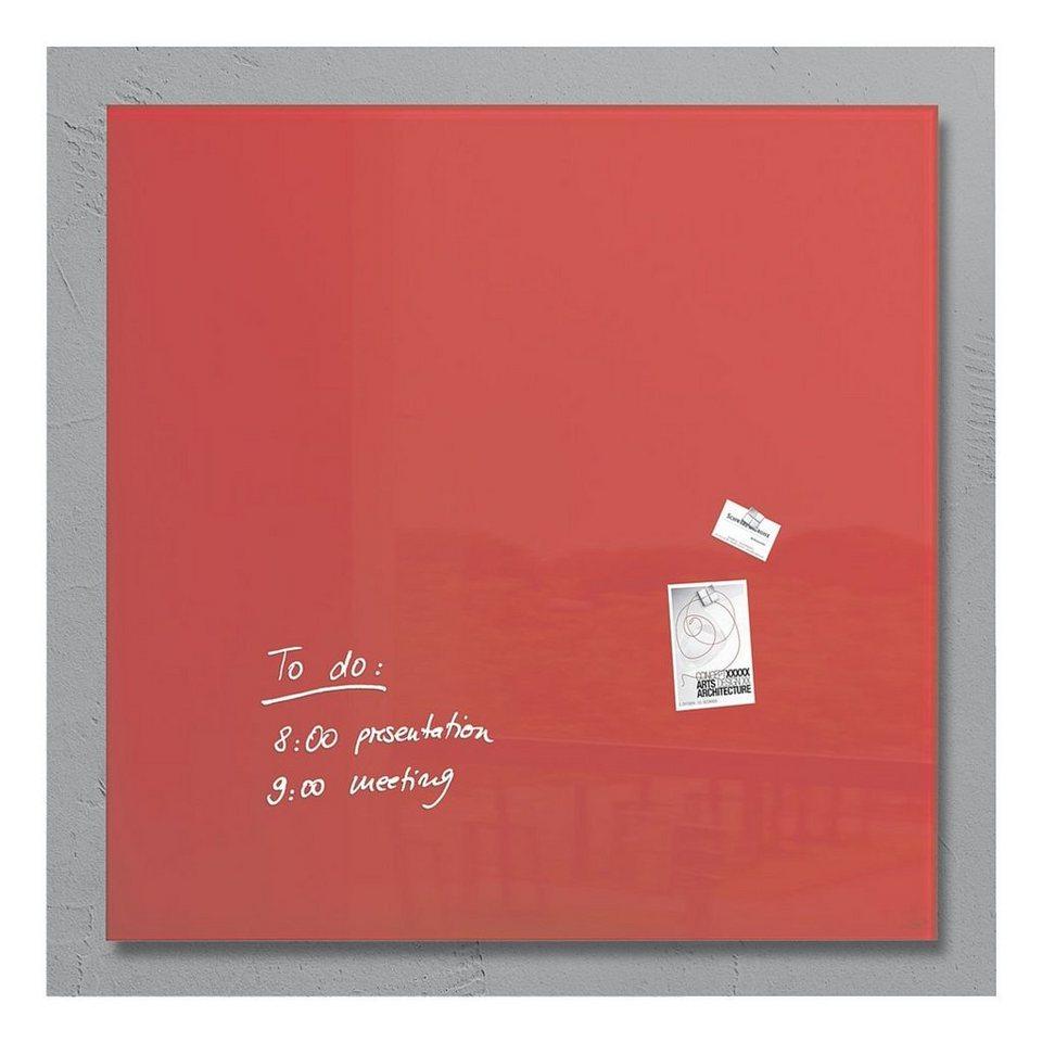 Sigel Glas-Magnettafel »artverum®« in rot