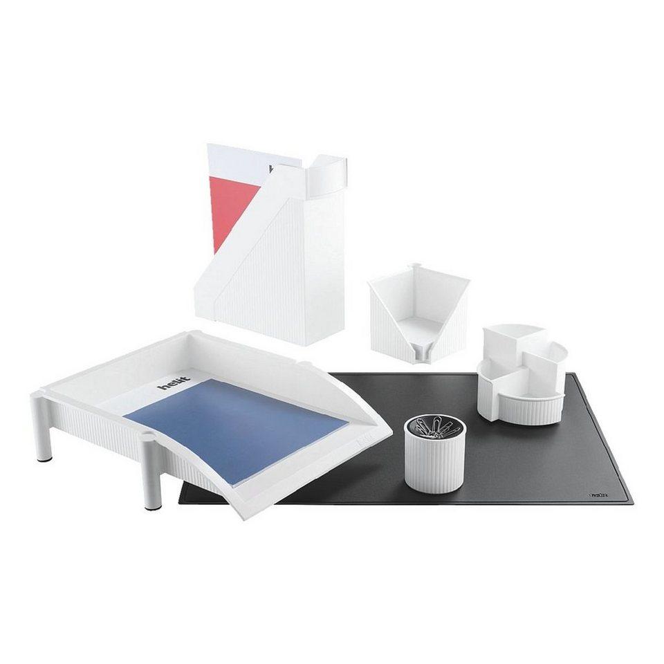Helit 6-teiliges Schreibtisch-Set »Linear« in weiß