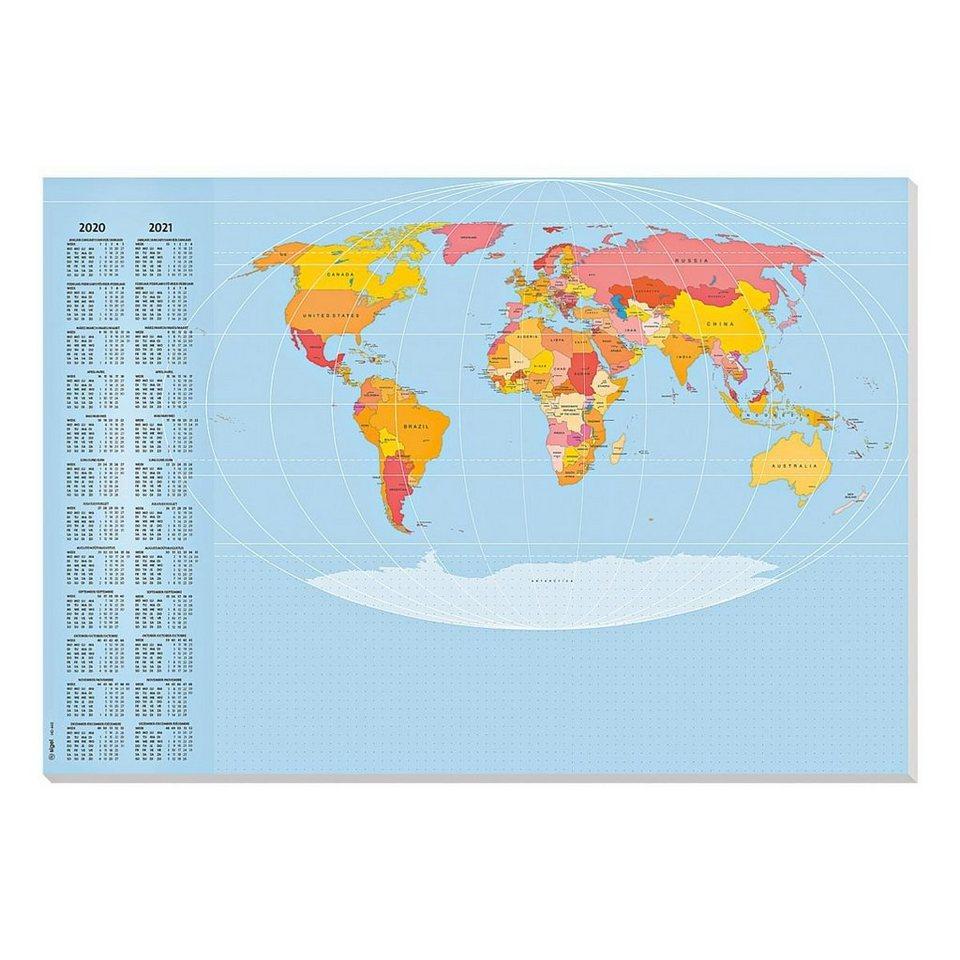 Sigel Schreibunterlage »Weltkarte«
