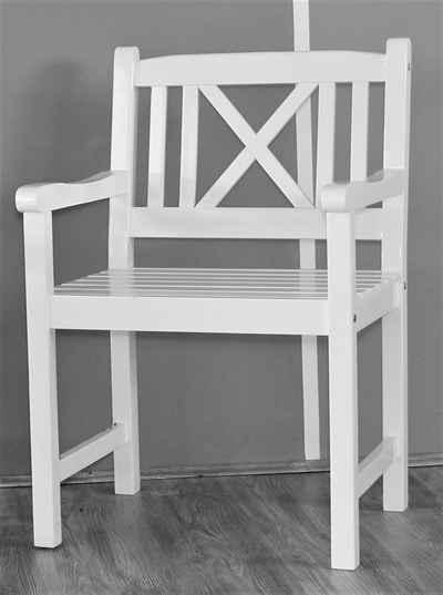 Sedex Gartensessel »Aalborg Sessel Weiß gewischt aus Eukalyptus«