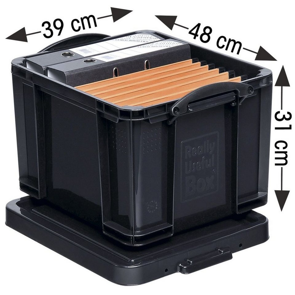 Really Useful Box Ablagebox in schwarz
