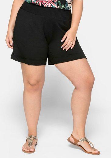 Sheego Shorts mit breitem Smokbund
