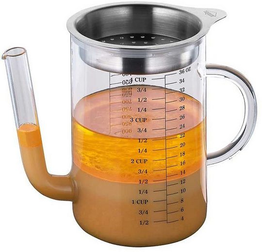 Küchenprofi Küchenhelfer-Set »Glas Fett-Trenn-Kanne 1l, mit Edelstahl-Sieb«