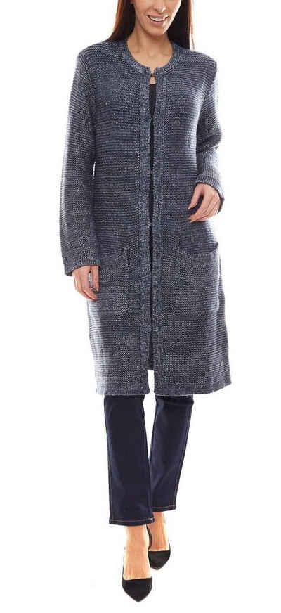 GUIDO MARIA KRETSCHMER Outdoorjacke »GUIDO MARIA KRETSCHMER Long-Cardigan stilvolle Damen Strick-Jacke im schlichten Look Freizeit-Cardigan Blau«