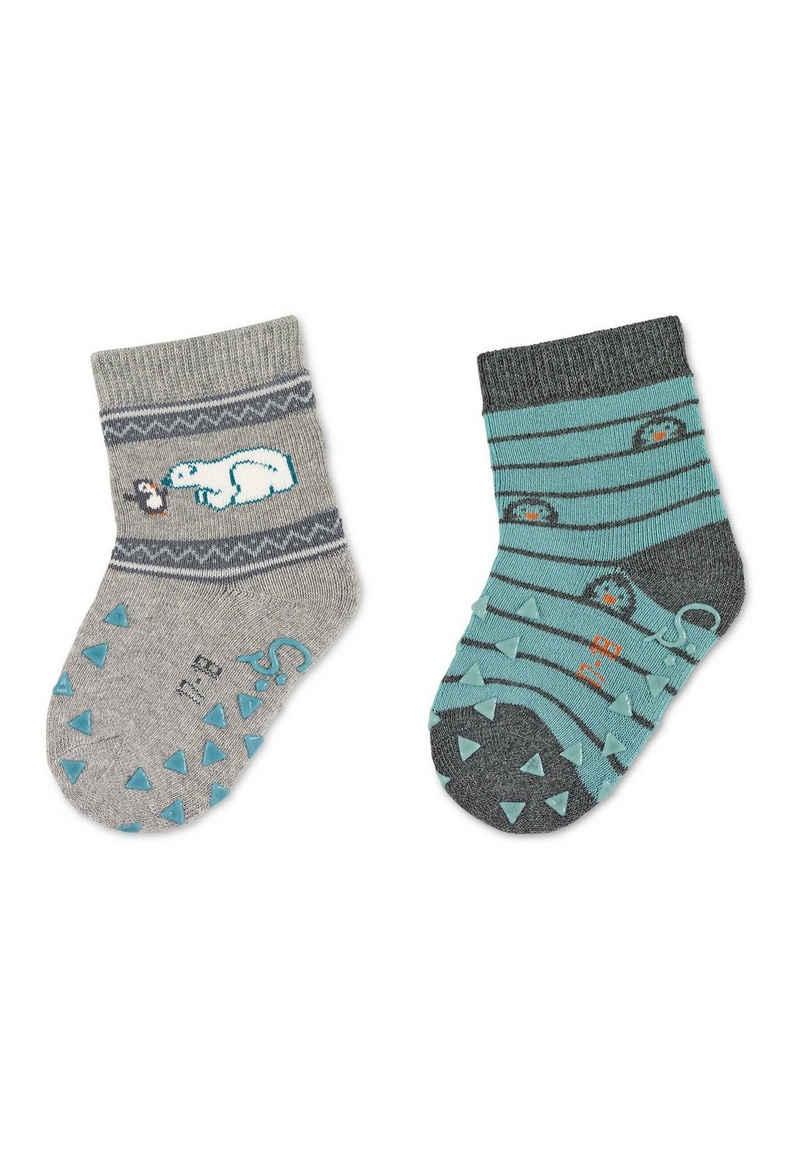 Sterntaler® ABS-Socken »ABS-Krabbelsöckchen DP Eisbär« waschbar, Vollplüsch