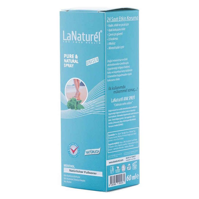 LaNaturel Fußschutz »Natürlicher Fußspray Menthol-Duft Unisex 60ml Fußdeo Deodorant Schutz vor Bakterien und Schweiß« (1-tlg)