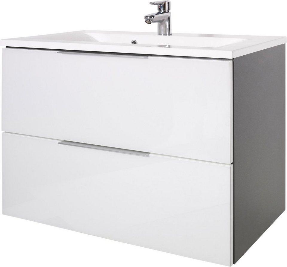 Waschtisch »Tessin«, Kesper in anthrazit-weiß