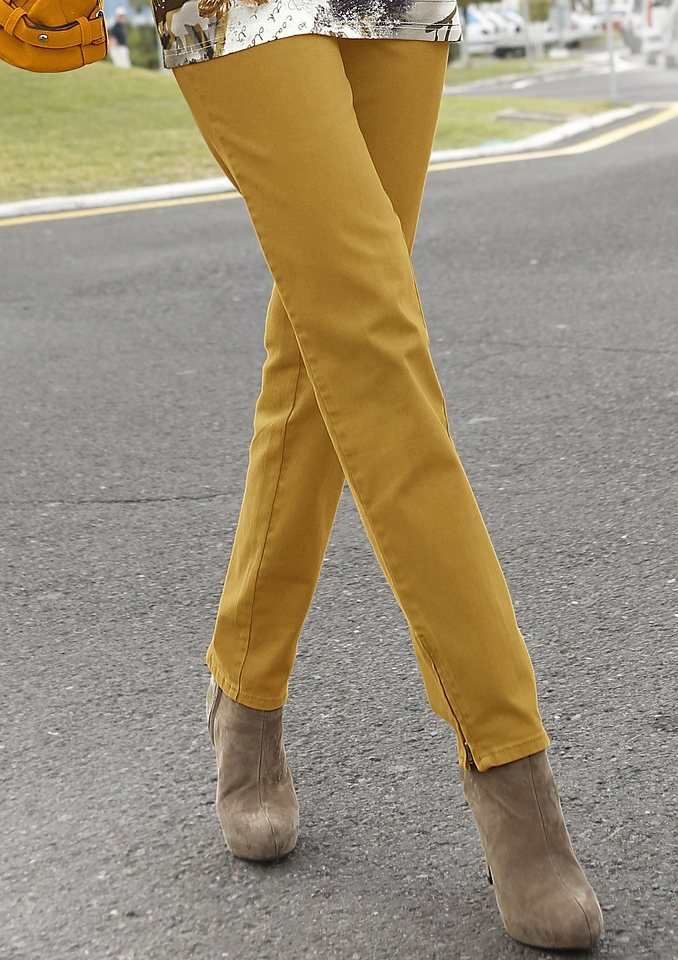 Création L Jeans mit Passe hinten in messingfarben