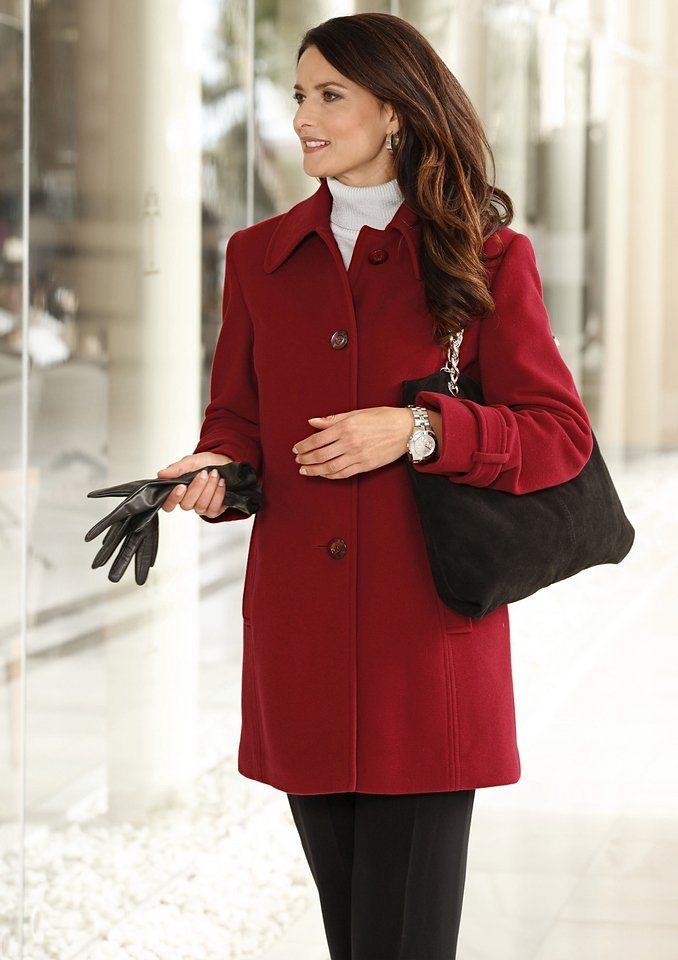 Wega Fashion Woll-Jacke mit Kaschmir-Anteil in rot