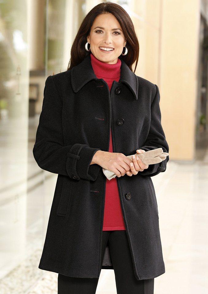 Wega Fashion Woll-Jacke mit Kaschmir-Anteil in schwarz