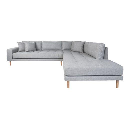 ebuy24 Sofa »Lido Ecksofa rechtgewendet hellgrau.«