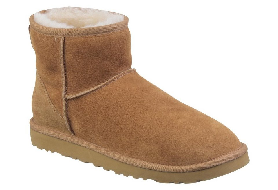 UGG »Classic Mini 2« Winterboots mit Lammfell in chestnut