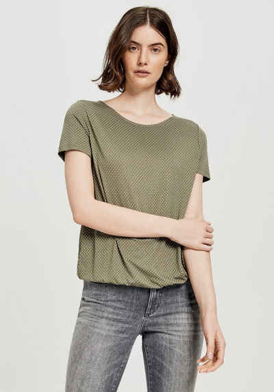 OPUS T-Shirt »Siekula« mit feinem All-over-Print
