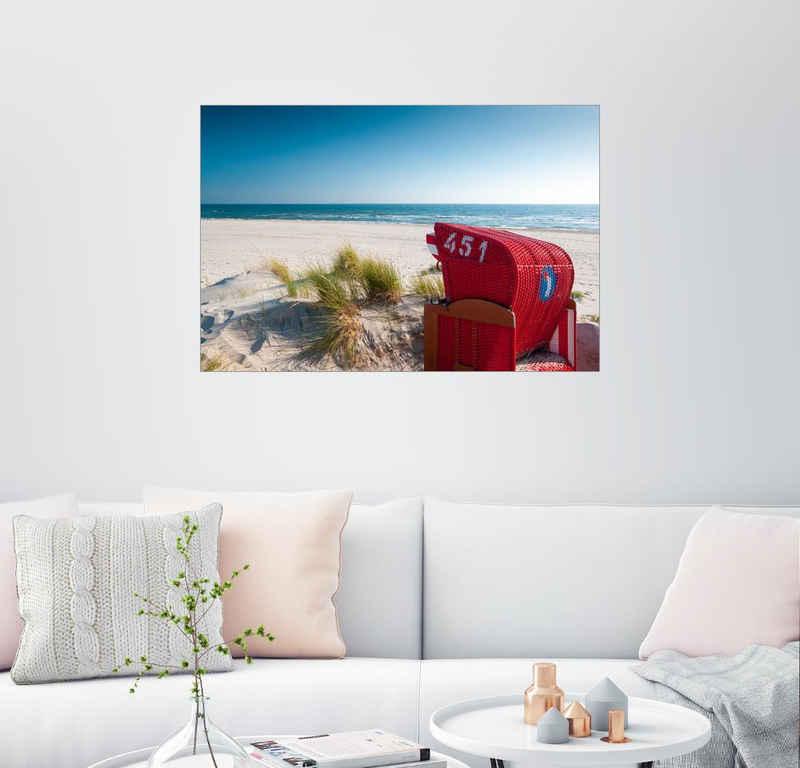 Posterlounge Wandbild, Sommer am Meer
