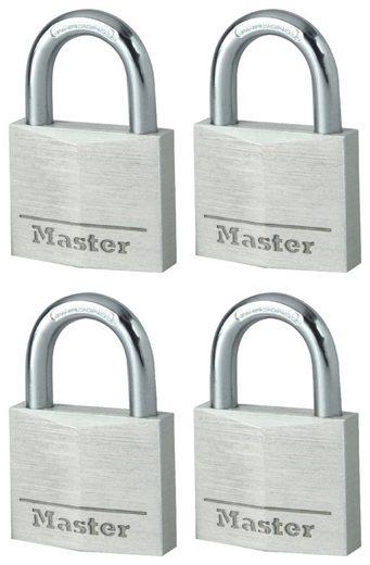 Master Lock Vorhängeschloss, Sicherheitsklasse 5, (Set, 4-tlg), Aluminium, gelichschließend