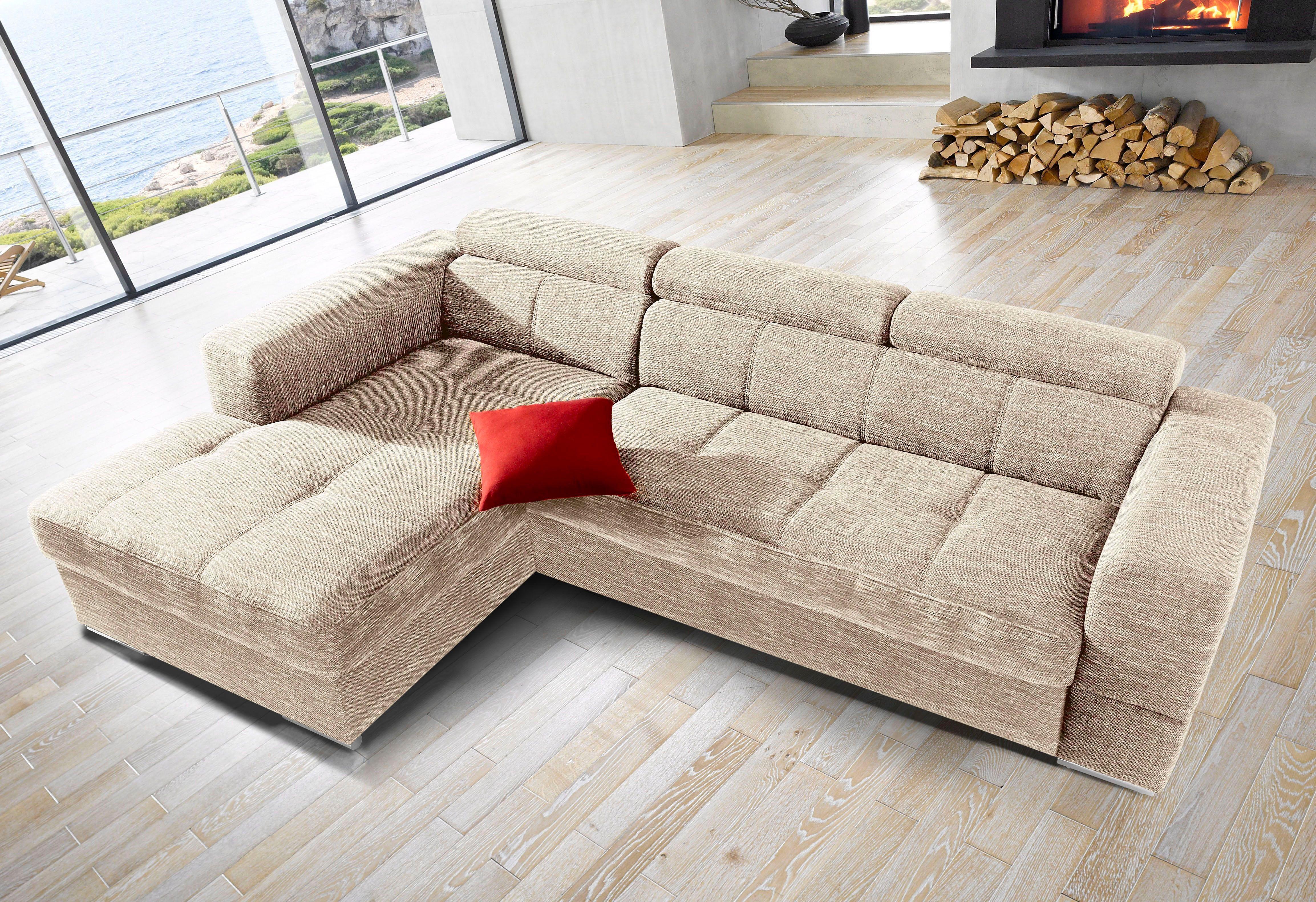 beige stoff ecksofas eckcouches online kaufen m bel suchmaschine. Black Bedroom Furniture Sets. Home Design Ideas