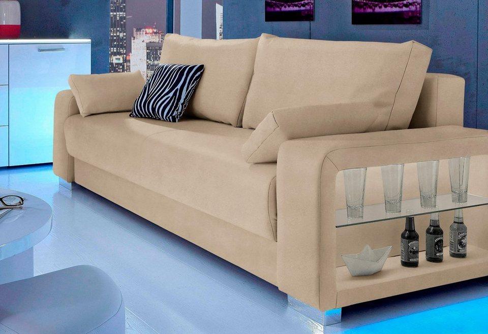 inosign schlafsofa 3 sitzer wahlweise mit beleuchtung online kaufen otto. Black Bedroom Furniture Sets. Home Design Ideas