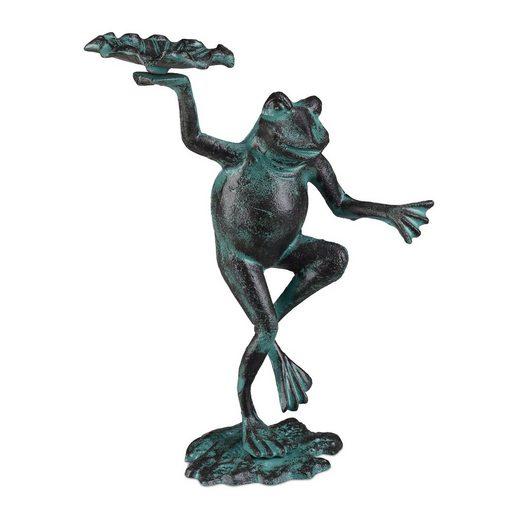 relaxdays Gartenfigur »Gartenfigur Frosch«