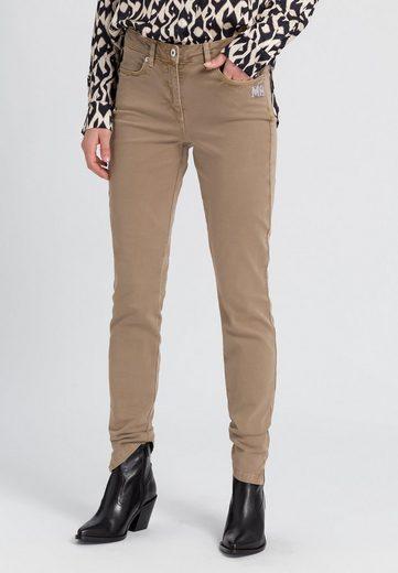 MARC AUREL 5-Pocket-Jeans mit Strassapplikationen