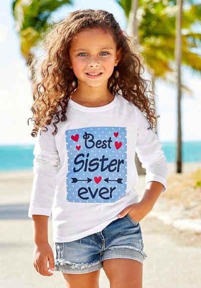 KIDSWORLD Langarmshirt »Best Sister ever« Druck