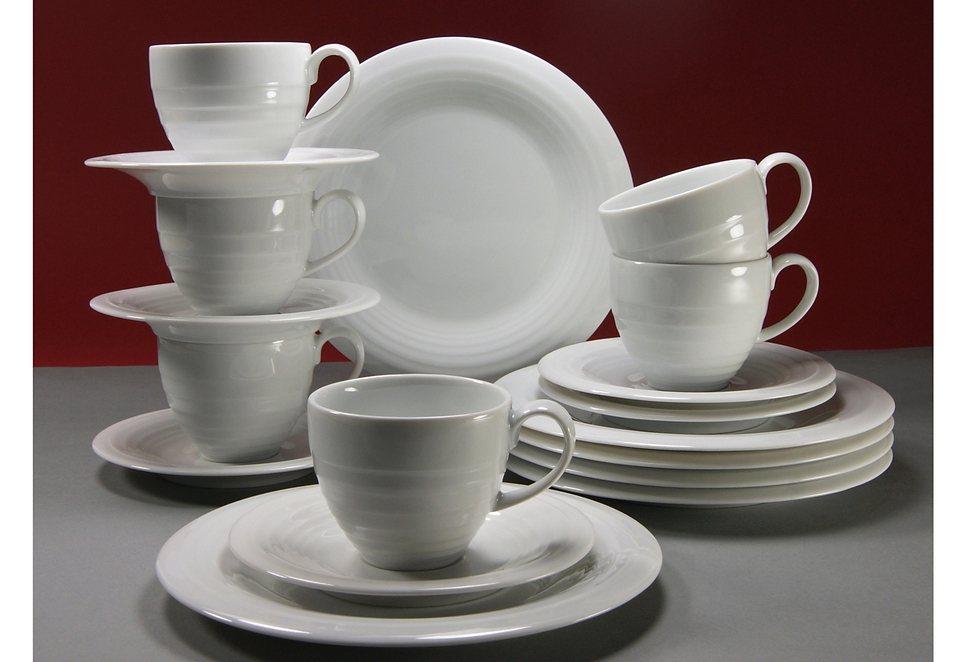 Porzellanserie, CreaTable, »Circles«, weiß in weiß