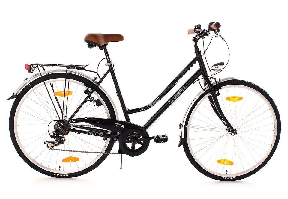 Trekkingrad, Damen , KS Cycling, »Old Fellow«, 28 Zoll, SHIMANO 6-Gang-Kettenschaltung, V-Brakes